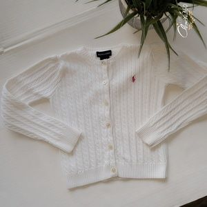Ralph Lauren Polo Solid Cable Knit Cardigan Size 6